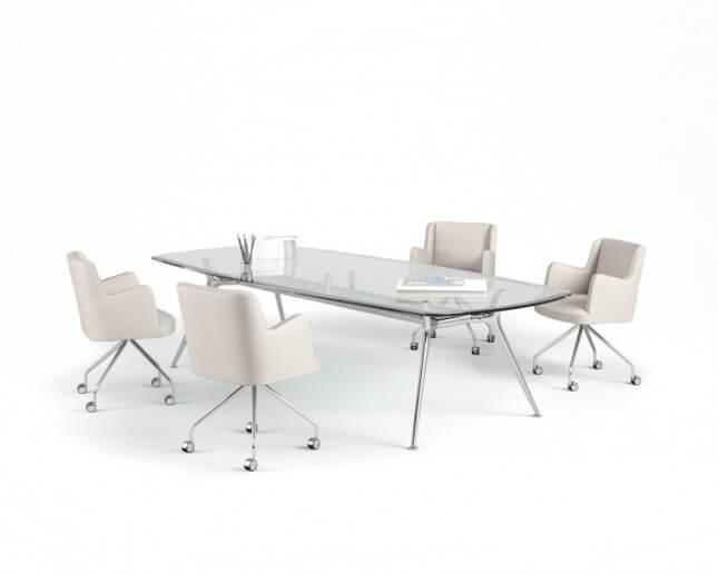 Mesa de reuniones cristal