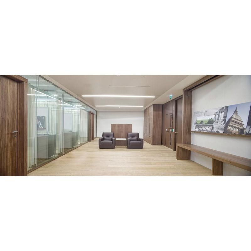 Mampara oficina doble vidrio Silentbox